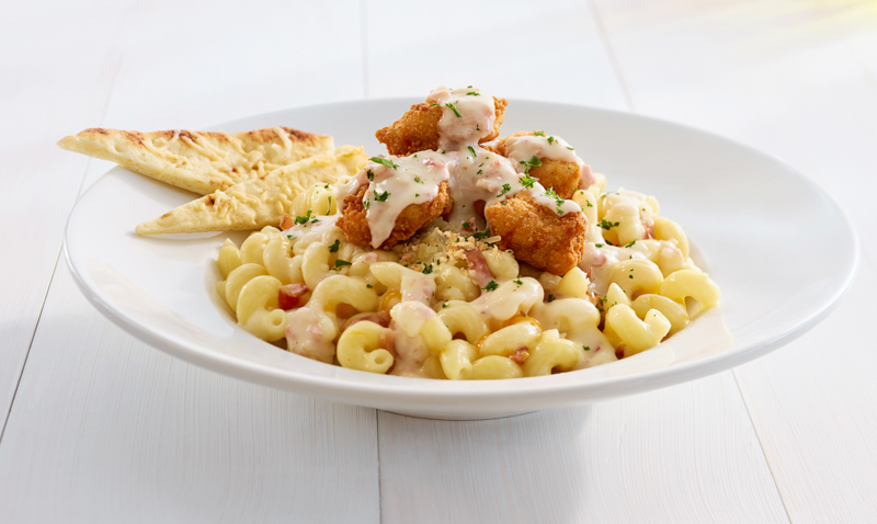 Crispy Chicken Mac 'n Cheese